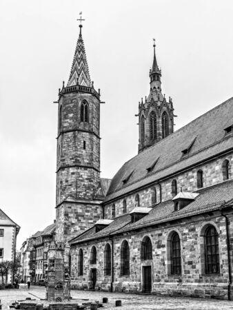 baden wurttemberg: VILLINGEN, GERMANY - NOVEMBER 09 2014: German City of Villingen. Medieval Old Town with historical buildings in the Morning in Baden Wurttemberg