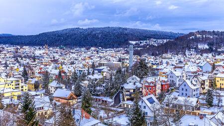 baden wurttemberg: Tuttlingen Winter Panorama in Baden Wurttemberg, Germany Stock Photo