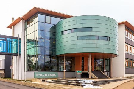 healthcare facilities: GEISINGEN, GERMANY - JANUARY 21 2016: Pajunk Medicine Technology Building in Geisingen. Modern Architecture