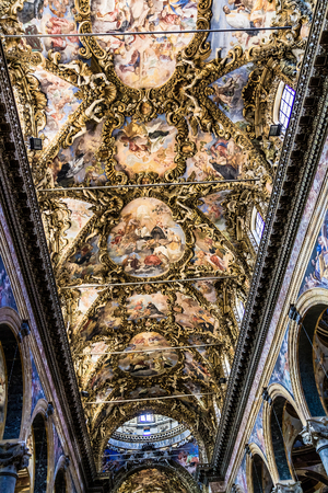 palermo   italy: PALERMO, ITALY - JUNE 27 2013: Palermo, Italy Church Interior