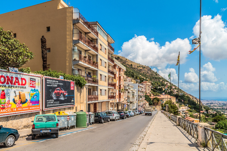 palermo   italy: PALERMO, ITALY - JUNE 27 2013: Palermo Cityscape on a hot summer day
