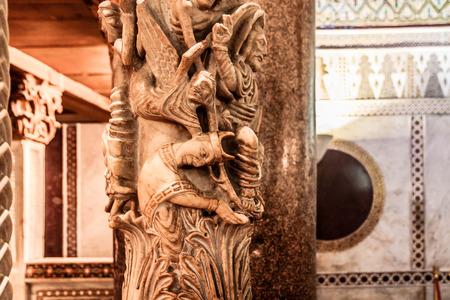 interior shot: PALERMO, SICILYITALY - JUNE 27 2013: Interior Shot of the famous Cappella Palatina in Sicily on June 27 2013 in the Palazzo Reale in Palermo in Sicily, Italy