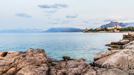 rambling: Landscape Picture of the wonderful coastline of Bagheria near Palermo, Sicily Stock Photo