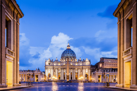 St. Peter Basilica in the Vatican of Rome, Italy