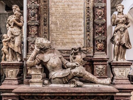 interior shot: WUERZBURG, GERMANY - MARCH 08 2015: Interior Shot from the Catholic Christian Cathedral of Wuerzburg in Bavaria, Germany Editorial