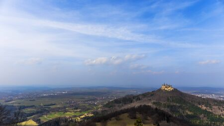Landmark Castle Hohenzollern in the Swabian Alb Region of Baden Wurttemberg, Germany. Early Spring picture