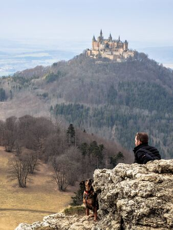 baden wurttemberg: Landmark Castle Hohenzollern in the Swabian Alb Region of Baden Wurttemberg, Germany. Early Spring picture
