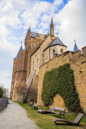 baden wurttemberg: BISINGEN, GERMANY - MARCH 24 2015 - Castle Hohenzollern in the Swabian Alb Region of South Germany, Europe Editorial