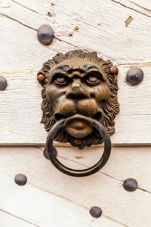 doorknocker: FORCHHEIM GERMANY MAY 27 2015: Forchheim City Door Knob