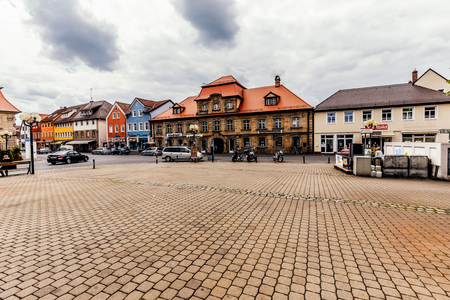 half timbered house: FORCHHEIM GERMANY MAY 27 2015: Forchheim Inner City with historical buildings