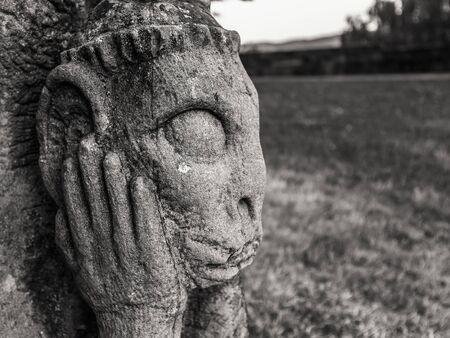 melancholijny: Melancholijny Kamień Gargulec w Frankonii, Niemcy