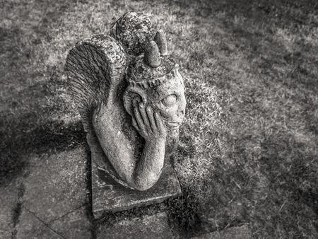 melancholic: Melancholic Stone Gargoyle in Franconia, Germany