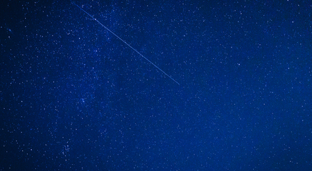 Perseids Meteor Shower in Upper Franconia, Germany on a clear night. High ISO night Picture