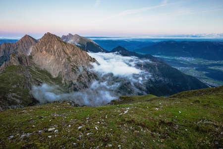 tirol: Evening in the Karwendel High Mountain Range of Tirol, Austria