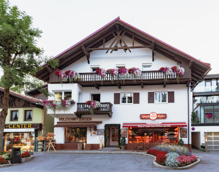 late summer: SEEFELD, AUSTRIA - AUGUST 27 2015: Picturesque Tourist Olympia City Seefeld in Autria on a warm late summer evening Editorial