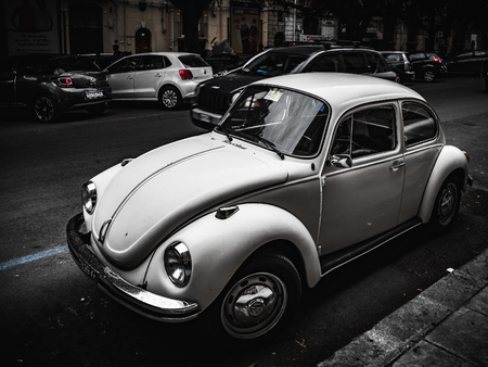 palermo: PALERMO, ITALY - OCTOBER 10 2015: Old vintage cars parking in palermo