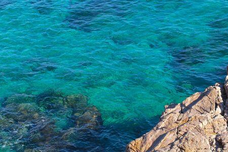 mondello: Sicily Deap Blue Sea at Mondello Stock Photo