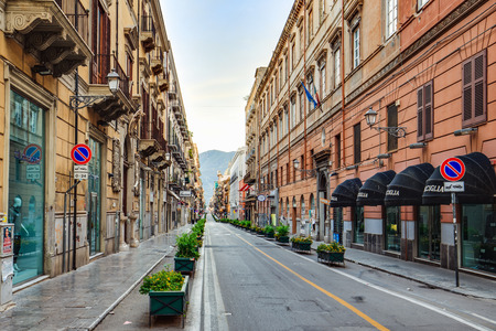 palermo: PALERMO, ITALY - OCTOBER 28 2015: Buildings in the City of Palermo, Sicily on a warm late october day Editorial