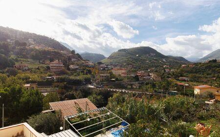 subtropical: Captivating Sicilian Subtropical Fall Landscape south og Palermo, Italy Stock Photo