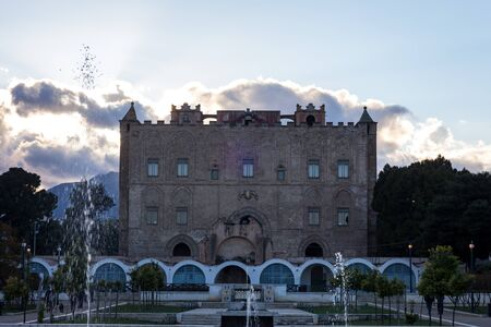 norman castle: Palermo Norman Castle Zisa in Sicily, Italy. Blue Sky Editorial