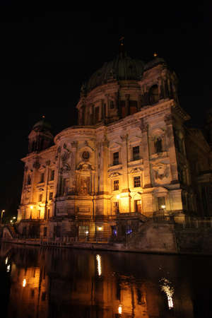 bode: Berlin, a beautiful building in the night.
