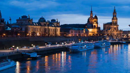 Dresden evening view of the city.