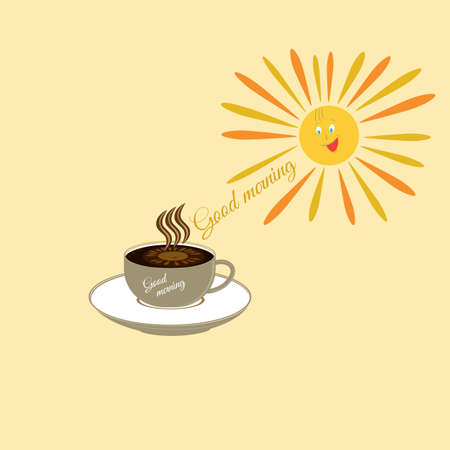 cheerfulness: Coffee morning uplifting. Cheerfulness for the whole day Illustration