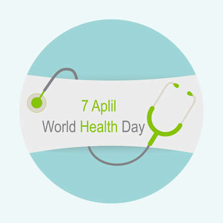 7 April World Health Day. Medical poster and text design.
