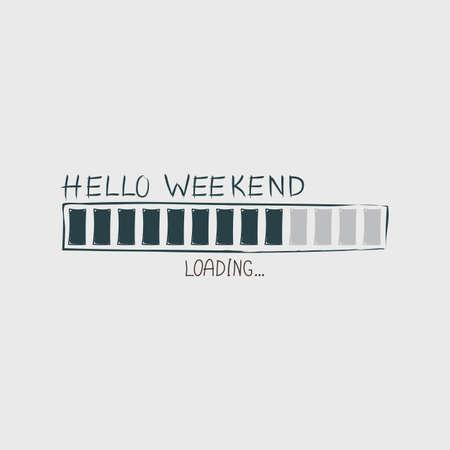 こんにちは週末の進行状況バーをロードします。