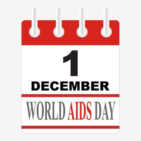 1st December World Aids Day poster. Vector illustration