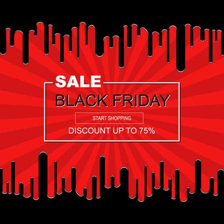 Modello di progettazione di poster di vendita di vendita nera di vendita astratta Archivio Fotografico - 87862025