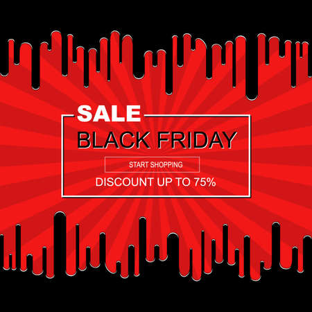Abstract  poster Black Friday sale inscription design  template.