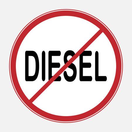アイコンディーゼル禁止交通標識は、ディーゼルエンジンを搭載した車両や車の使用を禁止しています。