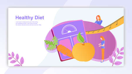 Womens and health diet with vegetables, fruit. Vegetarianism and dieting.