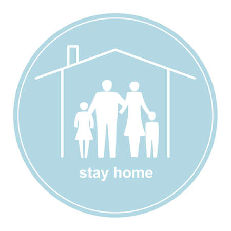 Banner stimulate you to stay home to protect yourself from the coronavirus.