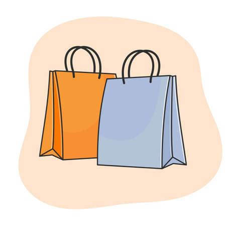 Shopping two paper bags. Vectores