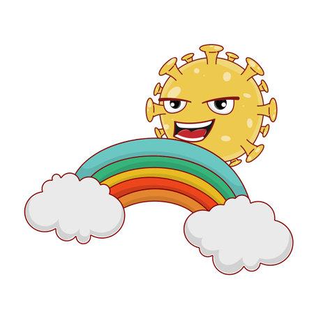 Coronavirus rainbow cloud fantasy.