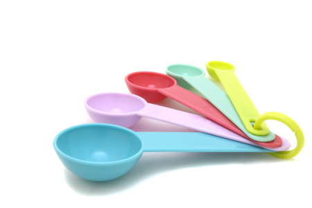 Colorful measuring spoons
