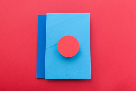 complementary: Complementary web color background design imitating the straight lines and curves of the material design and shading paper