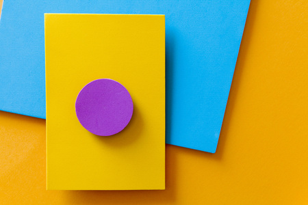 complementary: Complementary color web background design imitating the straight lines and curves of the material design and shading paper
