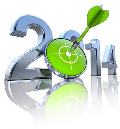 year increase: 2014 Stock Photo