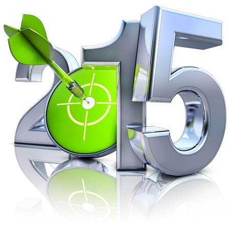 year increase: 2015 Stock Photo