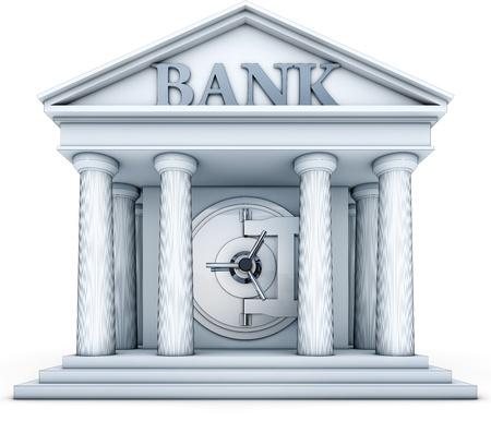 bank building: credit Stock Photo