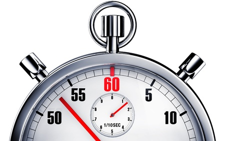 punctual: stop watch Stock Photo