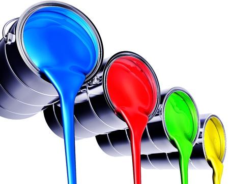 paintbrushes: paint pots