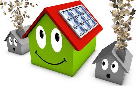 funding: solar energy Stock Photo