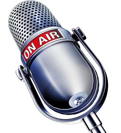 microfono de radio: en el micr�fono del aire
