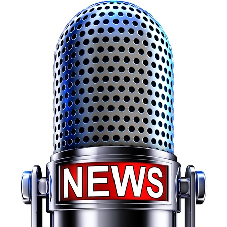 blogs: news microphone Stock Photo