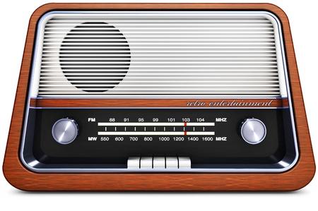 live on air: vintage radio Stock Photo