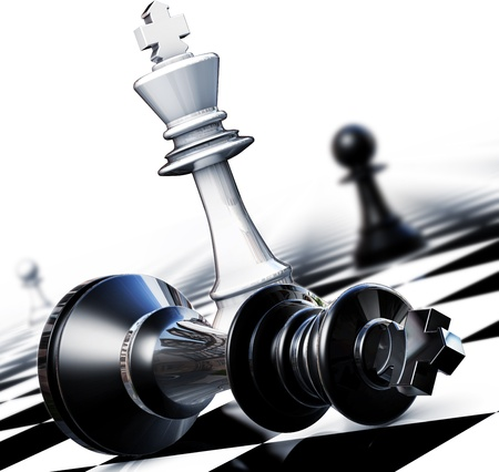 law business: Chess winner concept